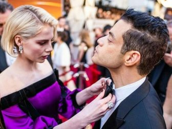 Everyone Kept Trying to Fix Rami Malek's Bowtie At The 2019 Oscars