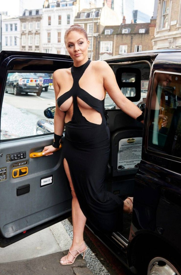 Stephanie Barnes Is Wearing Kim Kardashian's Dress On The Streets Of London