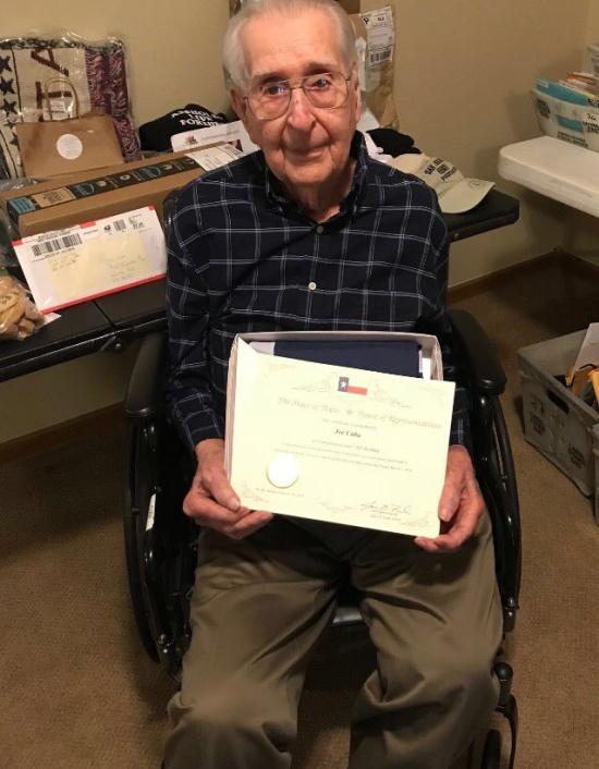 World War II Veteran Asks For 100 Birthday Cards
