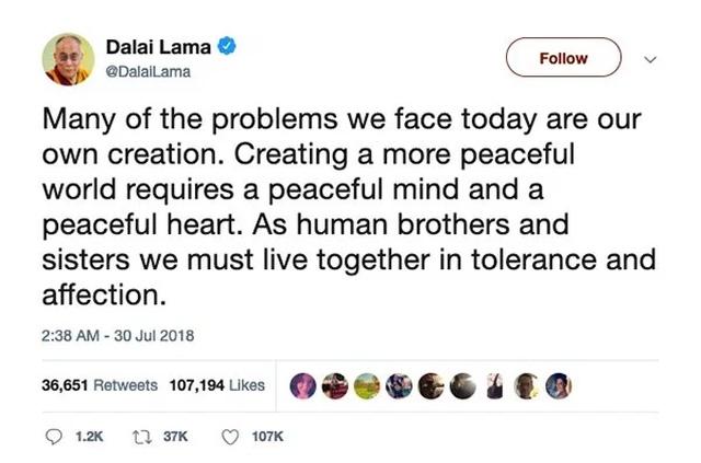 The Dalai Lama On Twitter