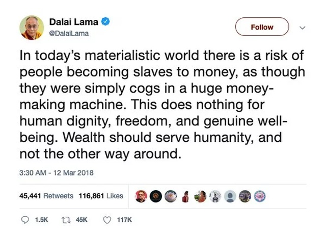 The Dalai Lama On Twitter