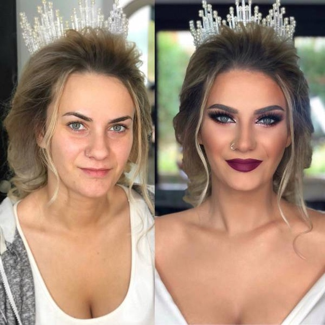 Wedding Makeup Before And After