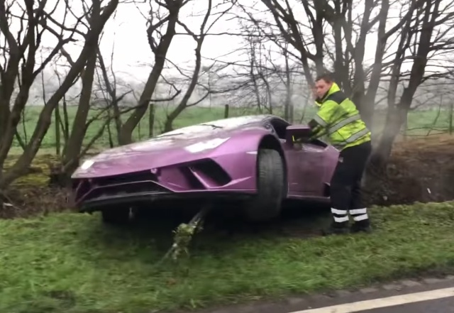 A Crypto Millionaire Left His Crashed Lamborghini In Ditch And Took