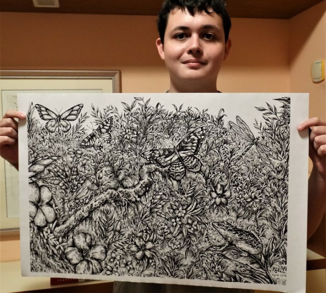 Started At 4, Here Is What He Has Drawn By Age 16, part 16