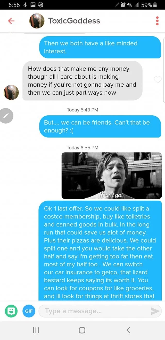 This Is How You Troll A Gold Digger On Tinder