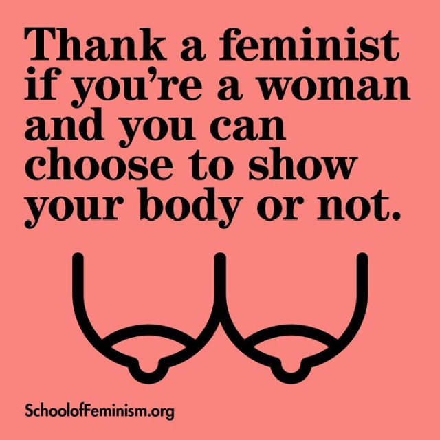 Posters Showing What Women Should 'Thank A Feminist' For