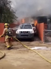Father-of-three Runs Past Firefighters To Save His Dog Gabbana As His Home Is In Flames