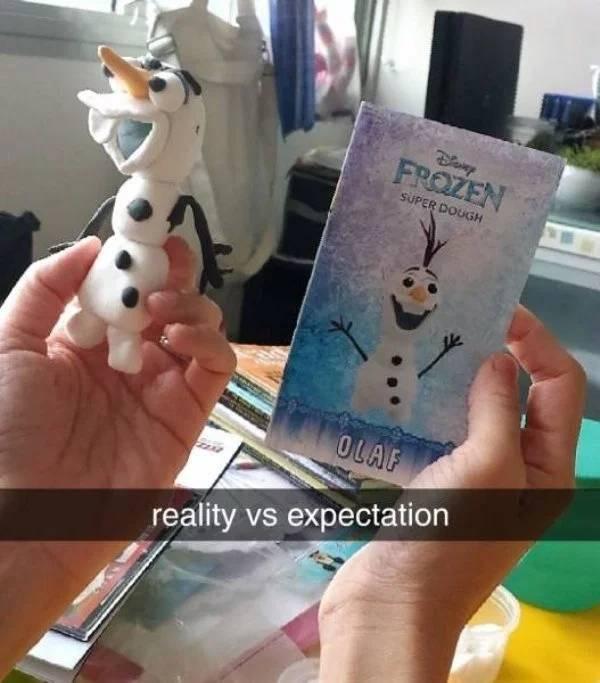 Expectations vs Reality, part 18