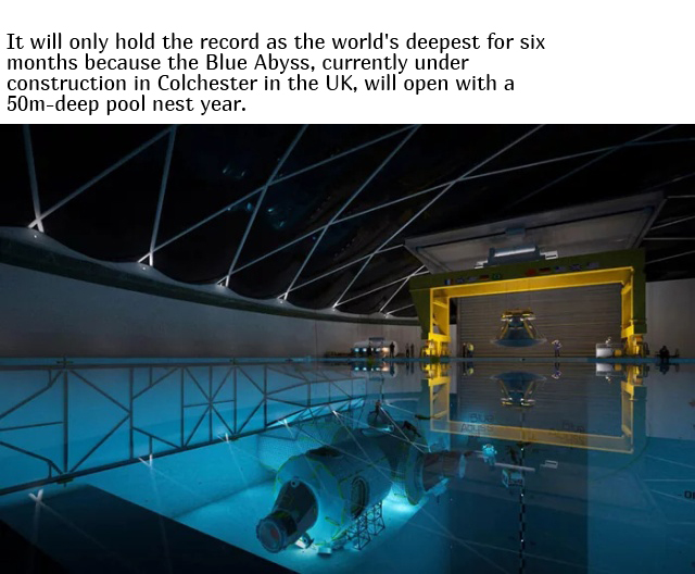 World's Deepest Swimming Pool To Be Opened In Poland This Year