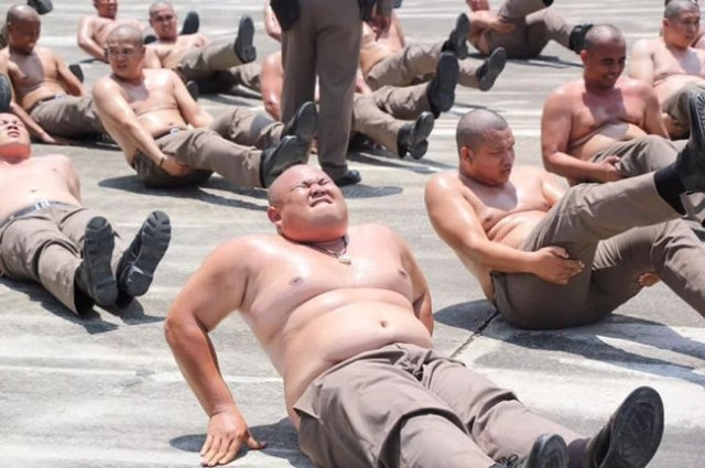 Thailand Sends Overweight Policemen To Weight-loss Camp