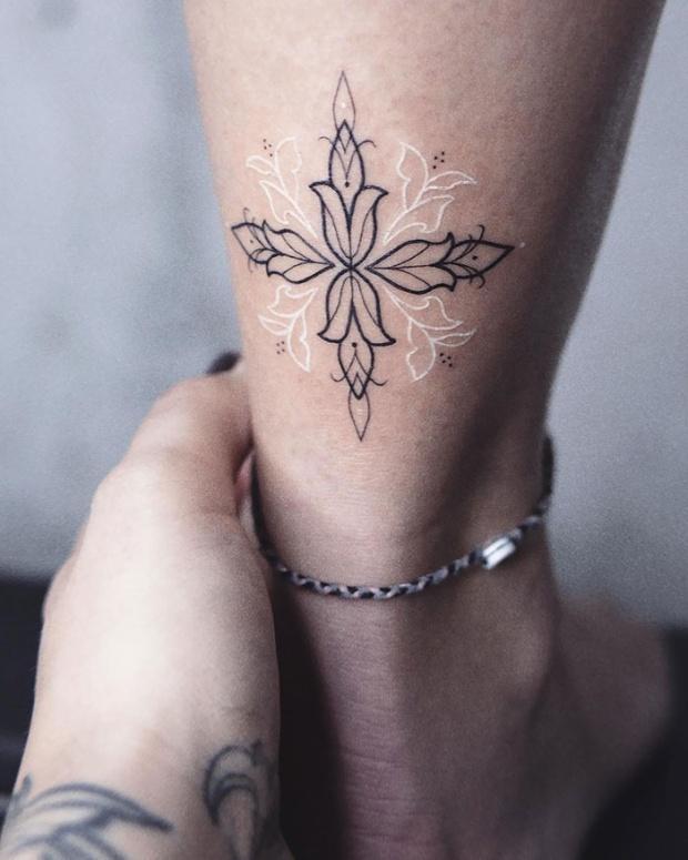Creative White Tattoos