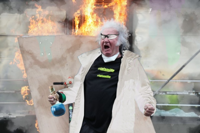 Man Rioting In Paris Gets Photoshopped