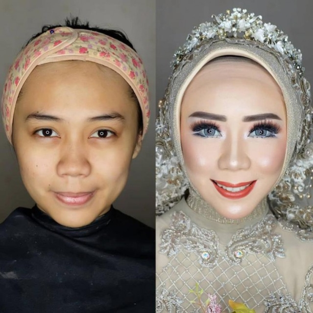 Asian Brides Before And After Wedding Makeup