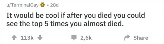 Shower Thoughts, part 71