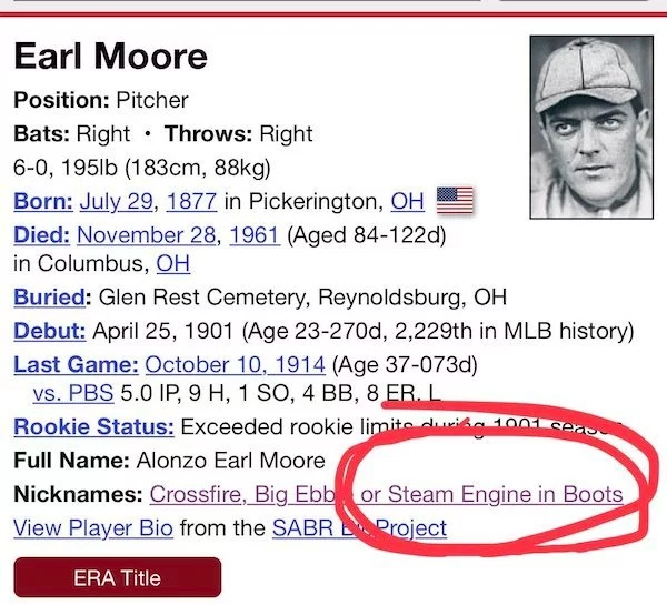 Cool Old Time Baseball Nicknames