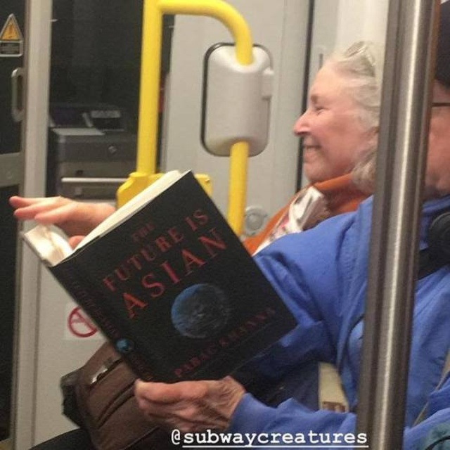 People On The Subway Read Strange Things