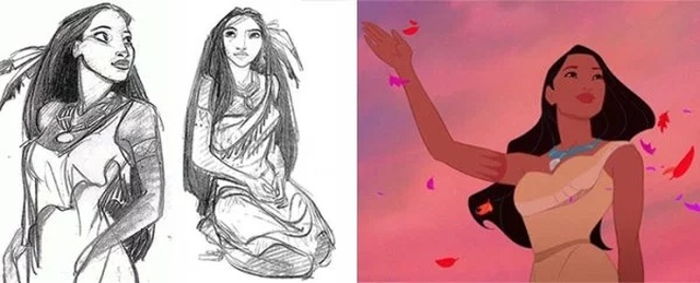 Disney Concept Sketches Compared To Real Characters