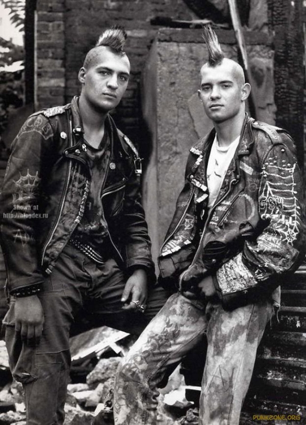 Punk Black Leather Jackets Were Cool