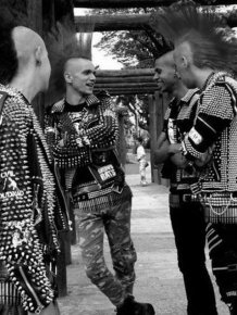 Punk Black Leather Jackets Were Cool