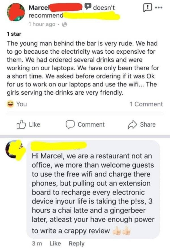 Restaurants Reply To Bad Reviews