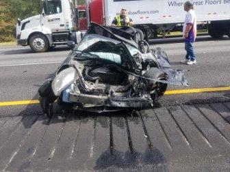 Driver Survives A Terrible Crash