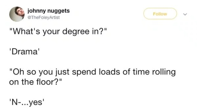 People Tweet The Most Common Responses They Get After Sharing What's Their Degree In