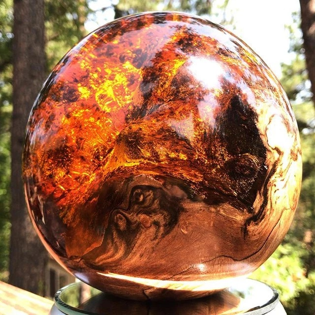 Beautiful Geometric Sculptures Cast From Burls Fused to Resin