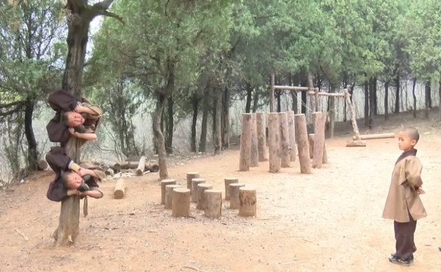 Six-year-old Shaolin Warrior Monks