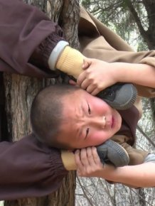 Six-year-old Shaolin Warrior Monks