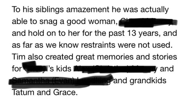 Guy's Totally Nutso Obituary Will Take You For A Wild Ride