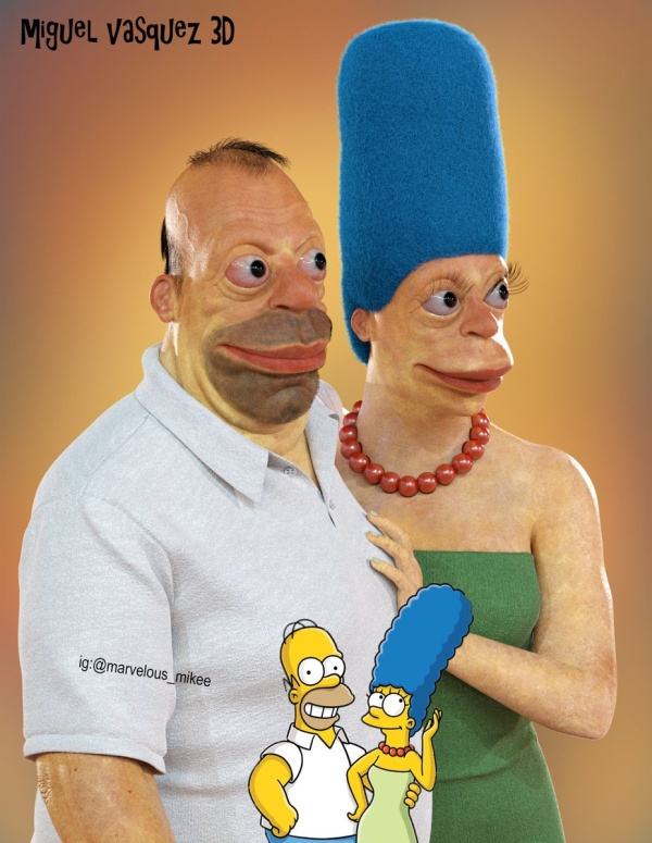 Homer And Marge Simpson In Real Life