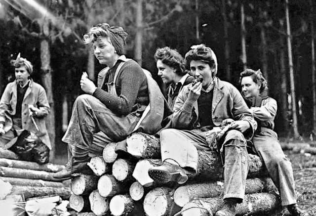 Lumberjack Women During World War II
