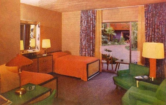 Bedroom Interior Of The 1950s and '60s American Hotels