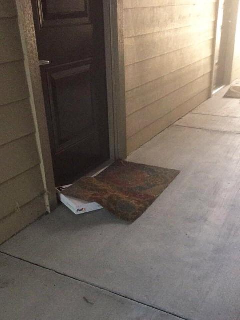 Failed Hidden Under The Doormat Deliveries
