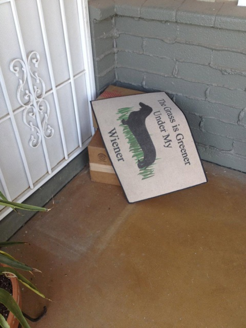 Failed Hidden Under The Doormat Deliveries