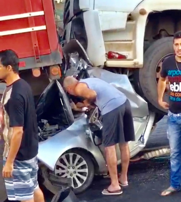 Driver Miraculously Escapes Horror Crash In Brazil