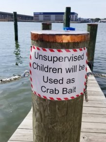 "Funny ""Unattended Children"" Warning Signs"