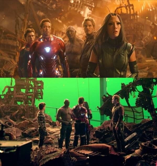 "How ""Infinity War"" Looks Without All The Visual Effects"