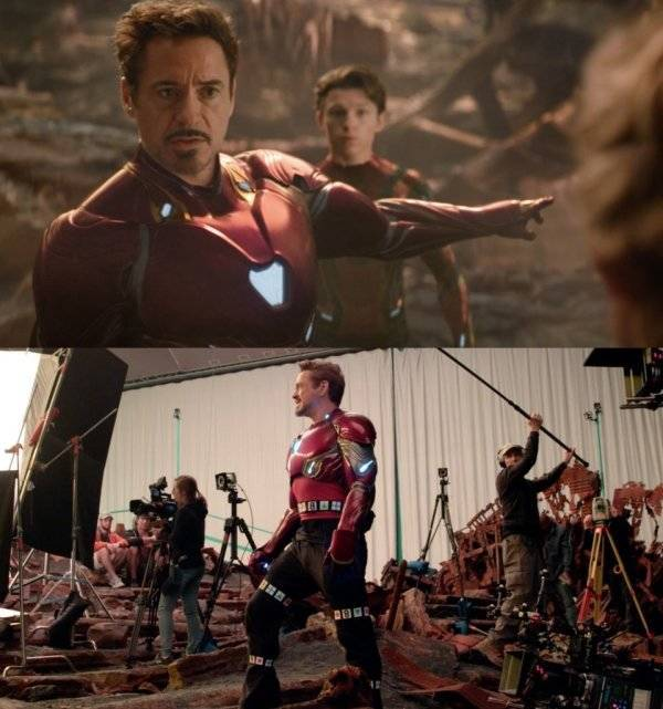 """How """"Infinity War"""" Looks Without All The Visual Effects"""
