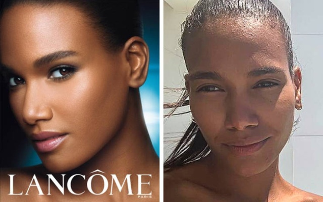 Cosmetics Brand Faces Without Makeup