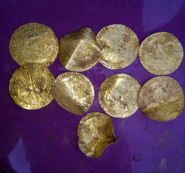 Friends Find 14th Century Coins Using Metal Detectors