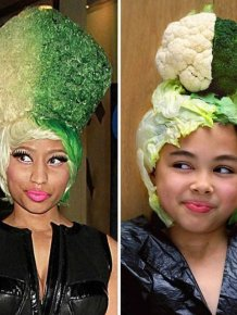 Nine-Year-Old Girl Uses Food And Other Things To Look Like Celebrities