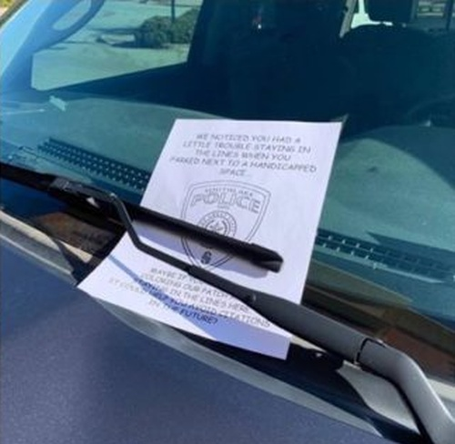Sometimes Police Officers Have A Great Sense Of Humor