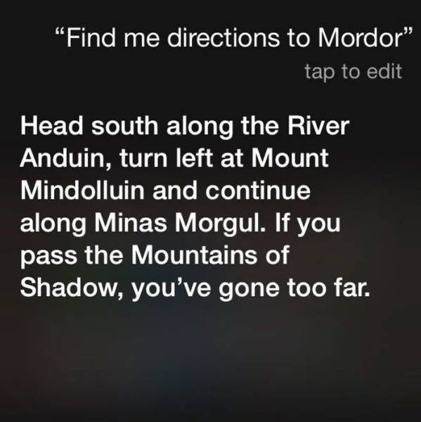You Ask Siri Stupid Questions, You Get Stupid Answers