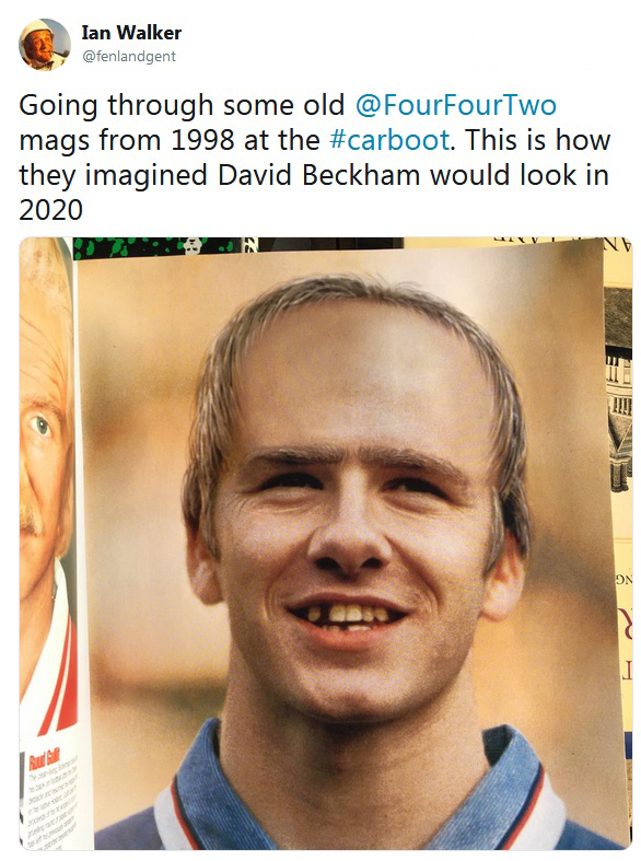 In 1998, Journalists Modeled Beckham's Appearance In 2020. Were They Close Or Not?