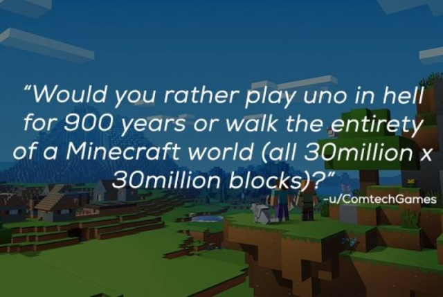 """""""Would You Rather?"""" Is A Very Difficult Game"""