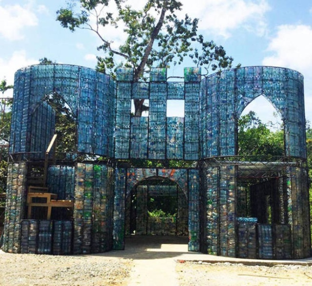 Houses Made Out Of Discarded Plastic Bottles