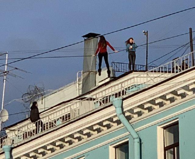 Crazy Girls In St. Petersburg, Russia