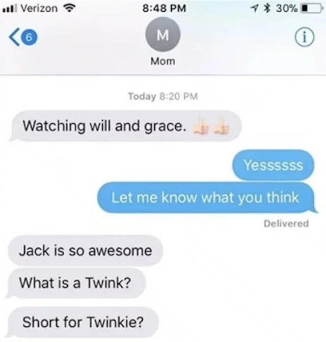 Embarrassing Mom Texts