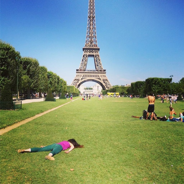 "Woman Takes Anti-Selfies by ""Dying"" at Famous Landmarks"